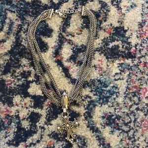 Brighton cross necklace never been worn